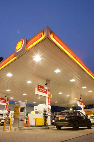 Shell Tankstelle mit NCR POS-Lösung