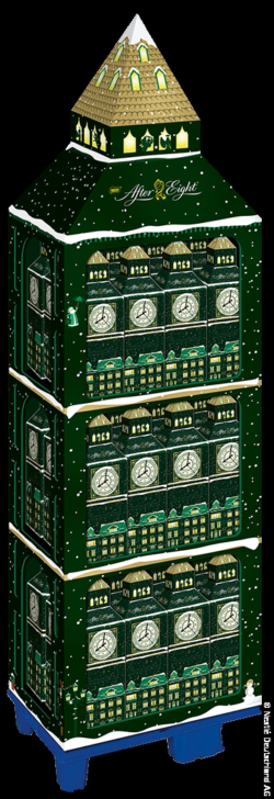 "Foto: Display für den After Eight ""Big Ben-Adventskalender""; copyright: Nestlé Deutschland AG"