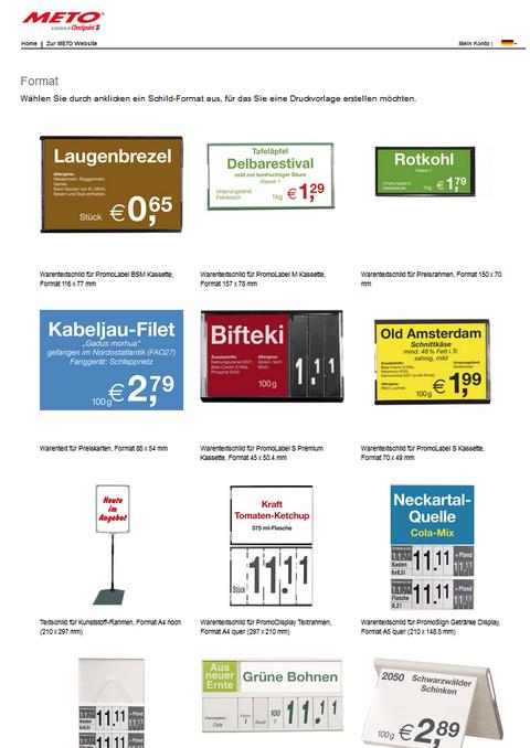 Preisschilder und Warentexte kostenfrei gestalten -- EuroShop