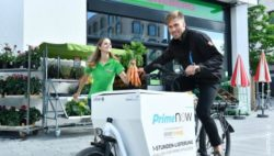 Foto: Fahrradkurier von Amazon Prime Now; copyright: Amazon