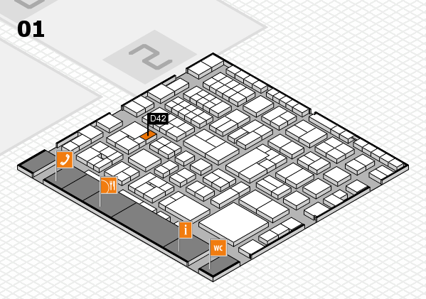EuroShop 2017 hall map (Hall 1): stand D42