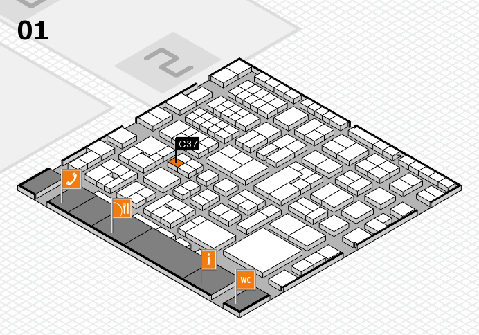 EuroShop 2017 hall map (Hall 1): stand C37