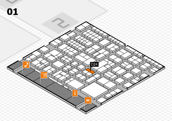 EuroShop 2017 hall map (Hall 1): stand D24