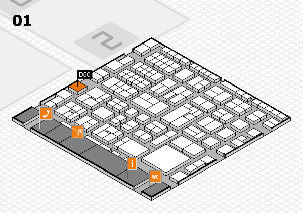 EuroShop 2017 hall map (Hall 1): stand D50