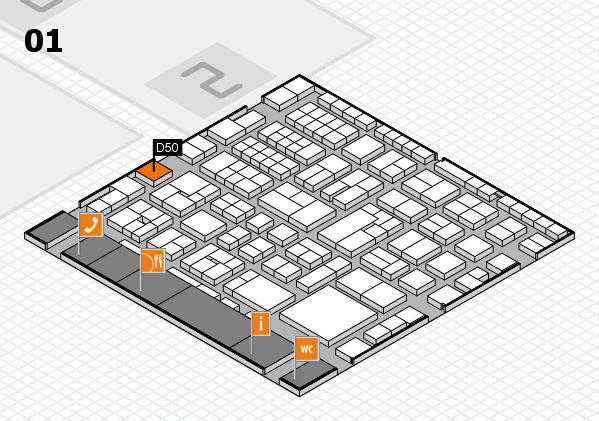 EuroShop 2017 hall map (Hall 1): stand D50