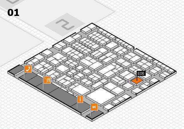 EuroShop 2017 hall map (Hall 1): stand E06
