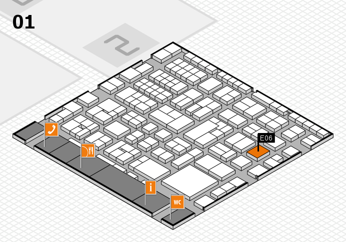 EuroShop 2017 hall map (Hall 1): stand E06