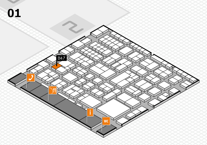 EuroShop 2017 hall map (Hall 1): stand B47