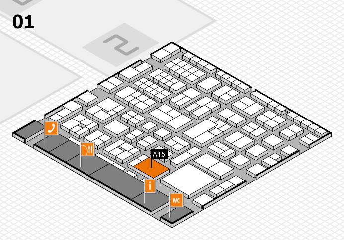 EuroShop 2017 hall map (Hall 1): stand A15