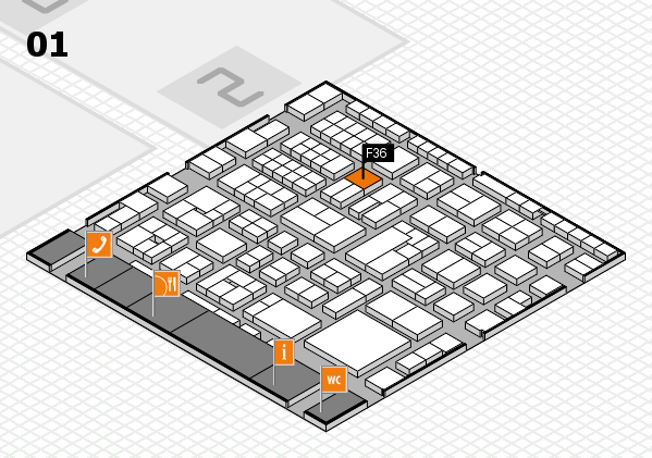EuroShop 2017 hall map (Hall 1): stand F36