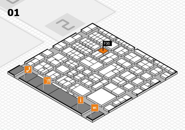 EuroShop 2017 hall map (Hall 1): stand F36