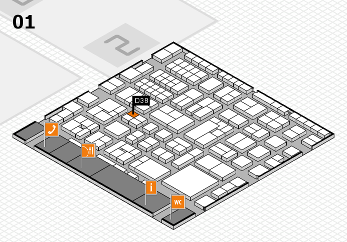 EuroShop 2017 hall map (Hall 1): stand D38