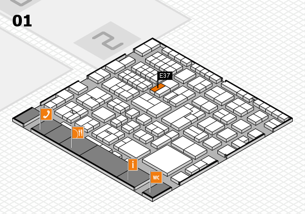 EuroShop 2017 hall map (Hall 1): stand E37
