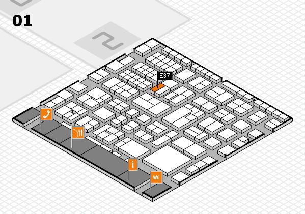 EuroShop 2017 hall map (Hall 1): stand E37