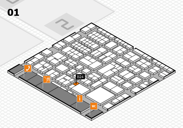EuroShop 2017 hall map (Hall 1): stand B24