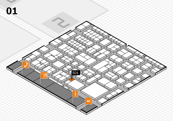 EuroShop 2017 hall map (Hall 1): stand B24