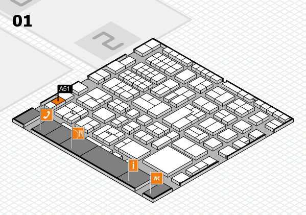EuroShop 2017 hall map (Hall 1): stand A51