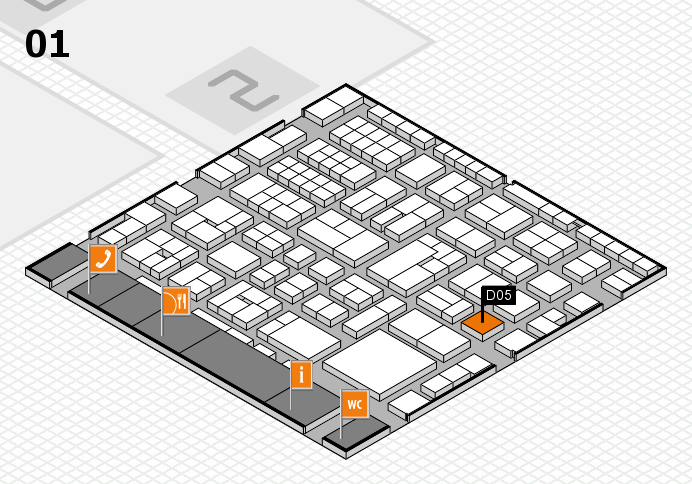 EuroShop 2017 hall map (Hall 1): stand D05