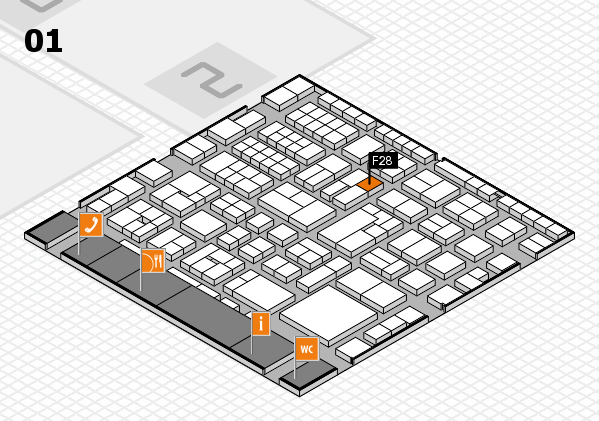EuroShop 2017 hall map (Hall 1): stand F28