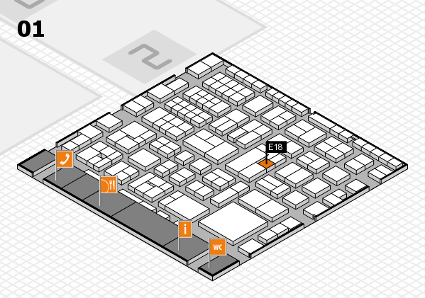 EuroShop 2017 hall map (Hall 1): stand E18