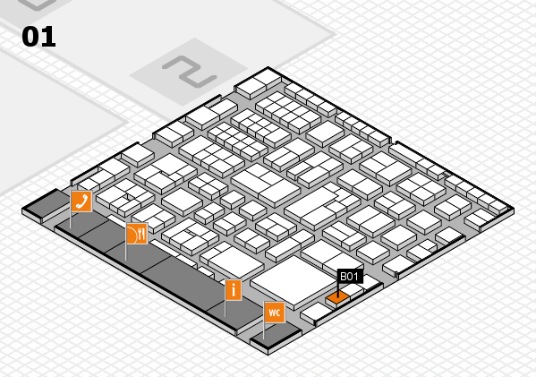 EuroShop 2017 hall map (Hall 1): stand B01