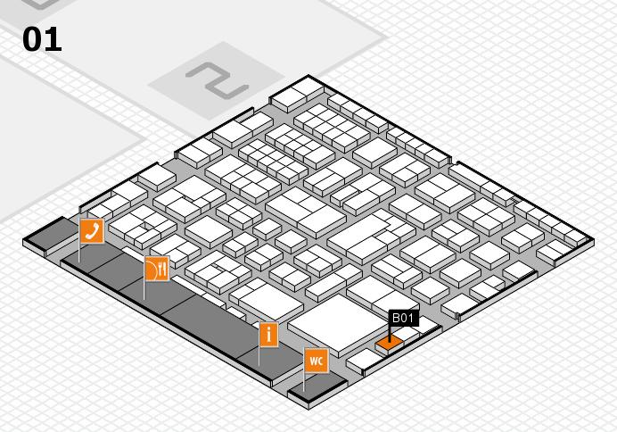EuroShop 2017 hall map (Hall 1): stand B01