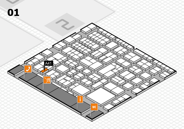 EuroShop 2017 hall map (Hall 1): stand A41