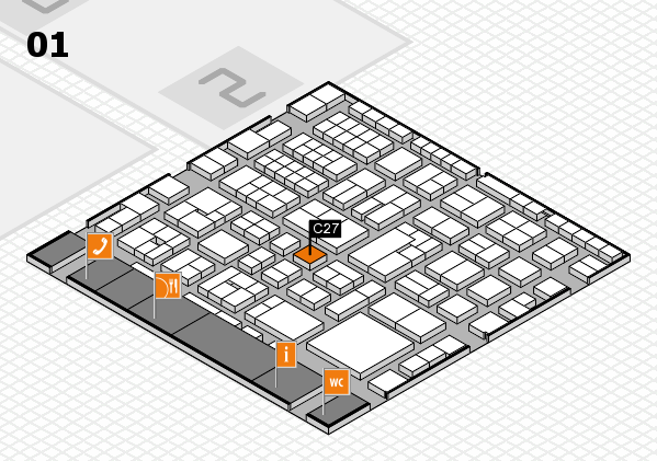 EuroShop 2017 hall map (Hall 1): stand C27