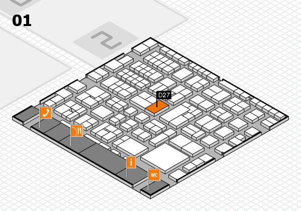 EuroShop 2017 hall map (Hall 1): stand D27