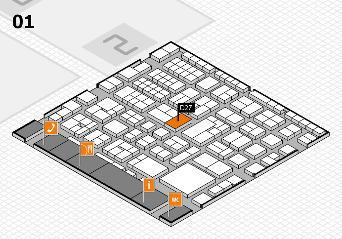 EuroShop 2017 hall map (Hall 1): stand D27