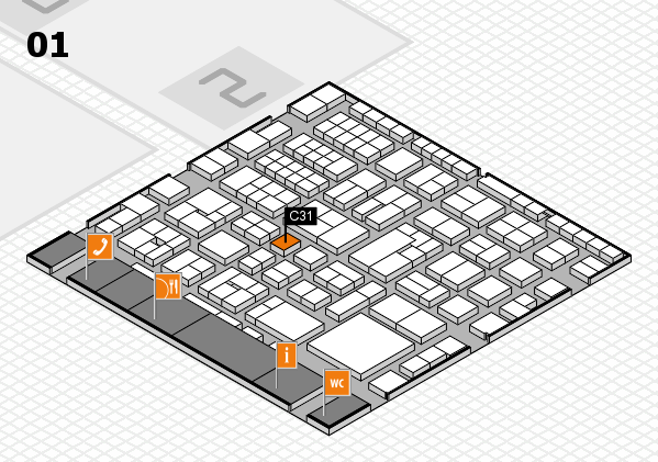 EuroShop 2017 hall map (Hall 1): stand C31