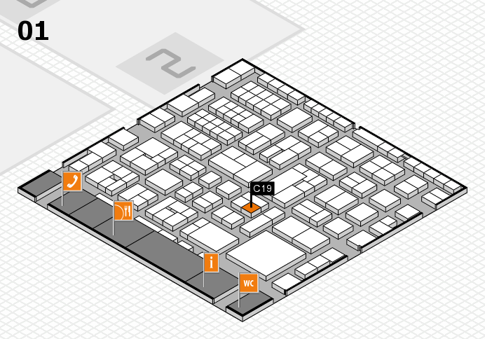 EuroShop 2017 hall map (Hall 1): stand C19