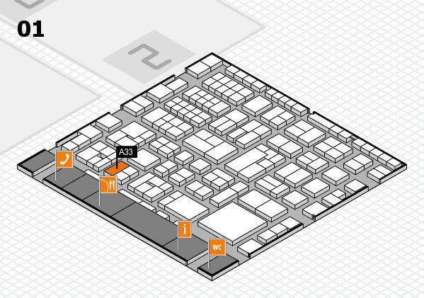EuroShop 2017 hall map (Hall 1): stand A33