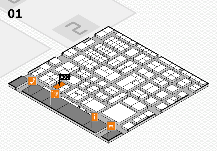 EuroShop 2017 hall map (Hall 1): stand A33