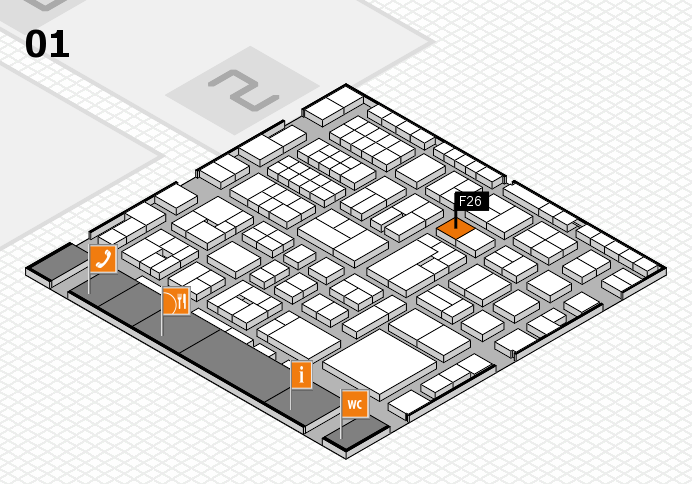 EuroShop 2017 hall map (Hall 1): stand F26