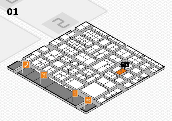 EuroShop 2017 hall map (Hall 1): stand E14