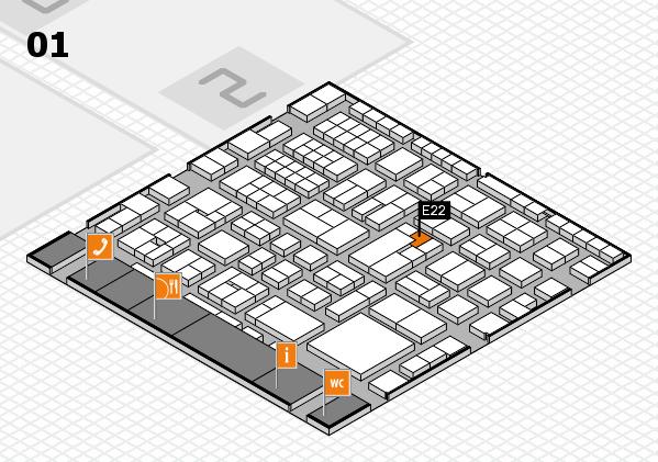 EuroShop 2017 hall map (Hall 1): stand E22