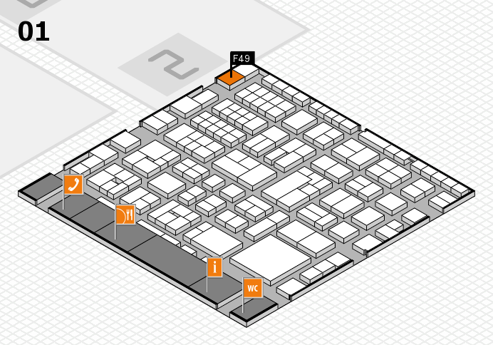 EuroShop 2017 hall map (Hall 1): stand F49