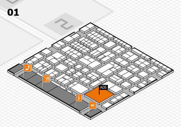 EuroShop 2017 hall map (Hall 1): stand A05
