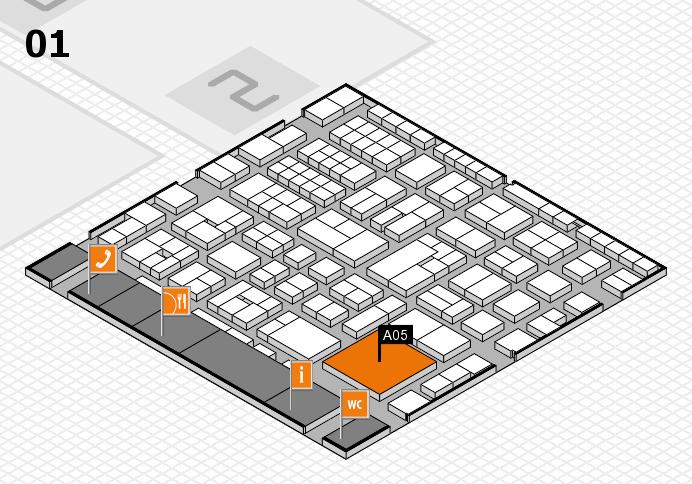 EuroShop 2017 hall map (Hall 1): stand A05