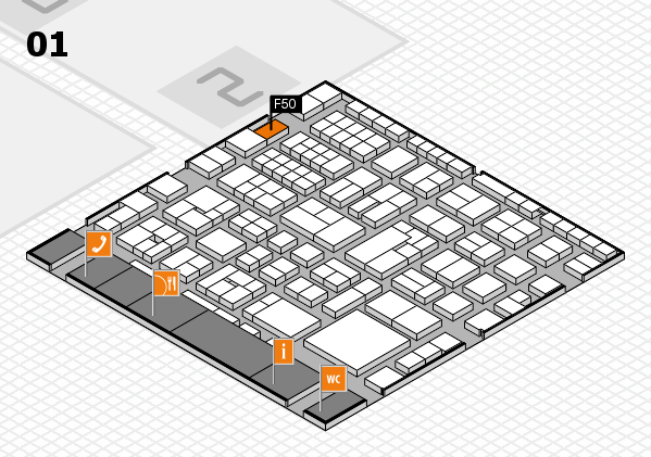 EuroShop 2017 hall map (Hall 1): stand F50