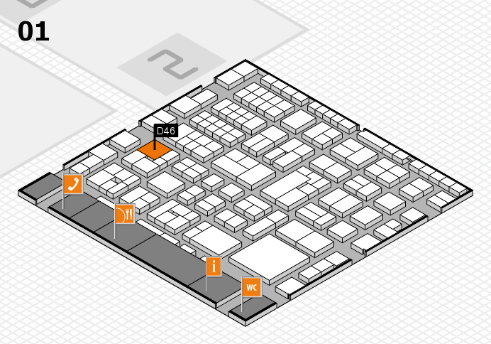 EuroShop 2017 hall map (Hall 1): stand D46