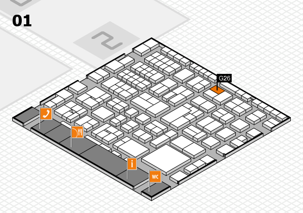 EuroShop 2017 hall map (Hall 1): stand G26