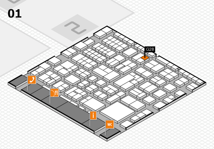 EuroShop 2017 hall map (Hall 1): stand G28