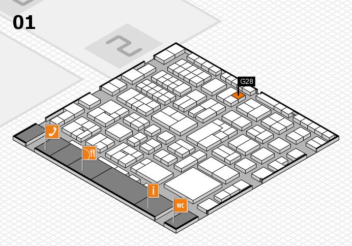 EuroShop 2017 hall map (Hall 1): stand G28