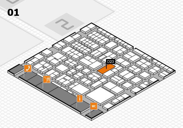 EuroShop 2017 hall map (Hall 1): stand D23