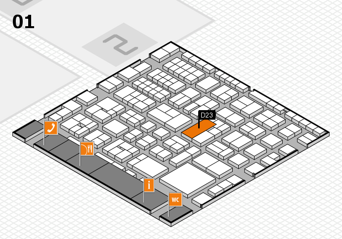 EuroShop 2017 hall map (Hall 1): stand D23