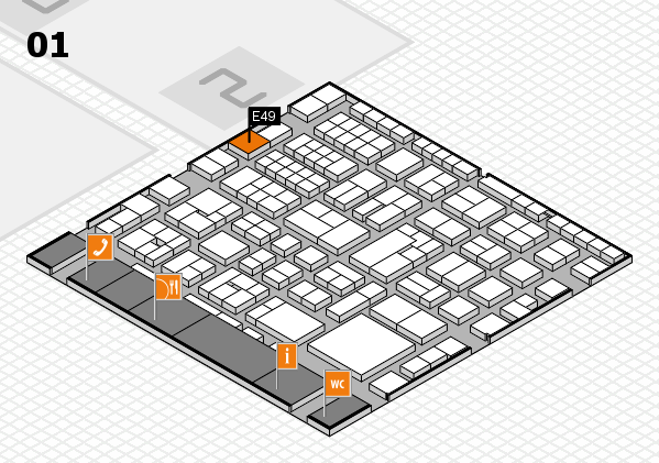 EuroShop 2017 hall map (Hall 1): stand E49
