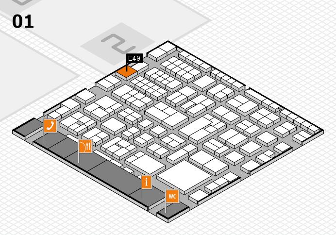 EuroShop 2017 Hallenplan (Halle 1): Stand E49