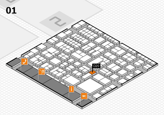 EuroShop 2017 hall map (Hall 1): stand D20